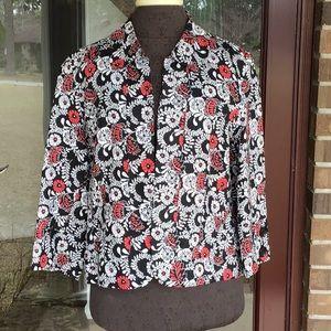 Kim Rogers Red, Black, & White Jacket, PL